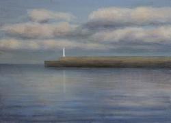 凪の海、灯台