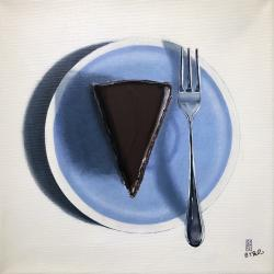 Let Them Eat Cake, Chocolatecake, 40x40cm