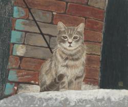 ヴェネツィアの猫 F8号