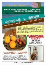 心の花びら展 in 南紀田辺チラシ