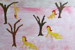 Pow Martinez 2015, oil on canvas
