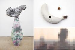 左:レイチェル・アダムス「Conformist」、右上:上出惠悟「甘蕉 孔」、右下:笹川治子「d.h.」(仮)
