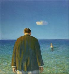 "Michael Sowa ""sea"" 2018, 31 x 29cm, acrylic on paper"