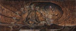 《地獄篇最終章》 2015-2016 ⽔彩紙、⽊製パネル、アクリル絵具、パステル 391×162cm ©CHIBA Kazumasa Courtesy Mizuma Art Gallery