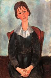 アメデオ・モディリアーニ 《少女の肖像》 1918年 油彩 91.5x60.5cm アサヒビール大山崎山荘美術館蔵