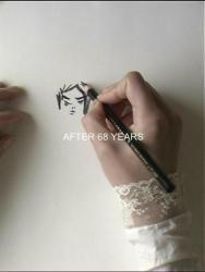 """©小林エリカ《68 年の後に彼女のポートレートを描こうとする》37min31sec video  2010  """"Your Dear Kitty,""""シリーズより Courtesy of Yutaka Kikutake Gallery"""