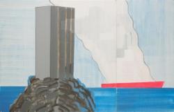 横山裕一、タンカーと高層マンション、1992  © Yuichi Yokoyama