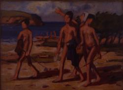 新井完「海辺」1905~10年