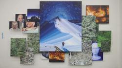 加茂昂「絶望と希望のあいだに道をさだめて僕は歩く」2012キャンバスに油彩タロ