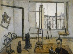 ベルナール・ビュフェ《アトリエ》 油彩 1947年(※後期のみ展示)