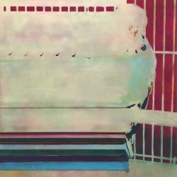 テレヴィジョン 2018 アクリル、綿布、パネル 145.5×145.5cm