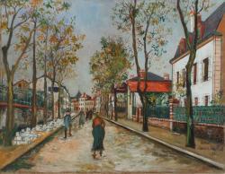 モーリス・ユトリロ 《ベシーヌ風景》1922年 油彩 50.0×65.0cm