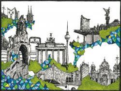 《 Berlin 》 ペン・水彩、紙 11.3x15.0cm 2012年
