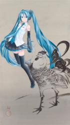 初音ミク×若冲鶏  llustrationbyiXima©CryptonFutureMedia, INC. www.piapro.net piapro ©細見美術館