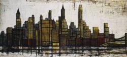 《ニューヨーク:マンハッタン》 油彩 1958年