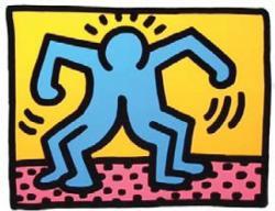 キース・ヘリング 「 POP SHOP (Ⅱ)」 1988年 リトグラフ ED.200 サイン有 26.5×34.0 cm