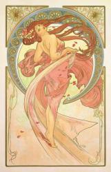 アルフォンス・ミュシャ 《舞踏―連作〈四芸術〉より》  1898年  カラーリトグラフ ミュシャ財団蔵  ©Mucha Trust 2019