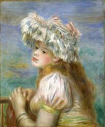 レースの帽子の少女  ピエール・オーギュスト・ルノワール  1891年  油彩/カンヴァス