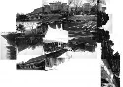 半田G展 「削除された図式/長春」2020年 Photo collage