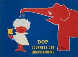 《ドップ:清潔な子どもの日》1954 年 ポスター(リトグラフ、紙) パリ市フォルネー図書館蔵 ©Annie Charpentier 2018