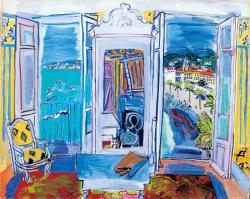 《ニースの窓辺》 1928年 油彩/キャンバス 島根県立美術館蔵