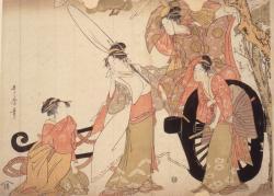 「四美人やつし車引」 喜多川歌麿 寛政5年(1793)頃 静嘉堂文庫美術館蔵 【後期】