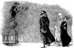 《うろんな客》1957年 挿絵・原画 ペン・インク・紙 エドワード・ゴーリー公益信託 ©2010 The Edward Gorey Charitable Trust