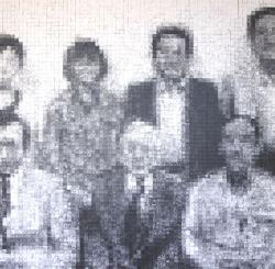 「 ある親族の物語 」 写真コラージュ 2 021 年 162 × 16 2 ㎝