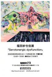 福田紗也佳展「Serotonergic dysfunction」