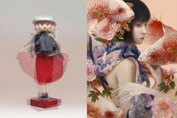 左)Yoshitoshi Kanemaki | inkjet on lenticular acrylic | ed.110 右)Ai Shinohara | Oil on Panel