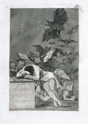 フランシスコ・デ・ゴヤ《「ロス・カプリーチョス(気まぐれ)」43 理性の眠りは怪物を生む》1797-98年 神奈川県立近代美術館蔵