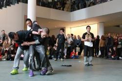 Performing Histories: Live Artwork Examining the Past at The Mu seum of Modern Art, New York photo by Choy Kafai