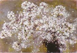 羽倉恭子「桜花」油彩M20号