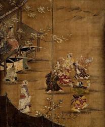 国宝 花下遊楽図屛風 (左隻・部分) 狩野長信筆 江戸時代・17世紀 東京国立博物館蔵 ※画像は原品