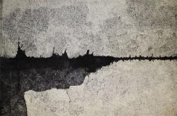「かさねる」2000×3000mmキャンバス・シャチハタスタンプインク・アクリルガッシュ・サンビーエンドレススタンプ2011年