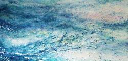案内状作品 「その瞬間の静寂」 180×90