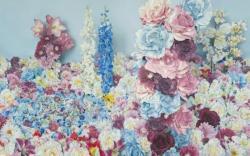 青いバラのある風景 (2013) 227.3x363.6cm