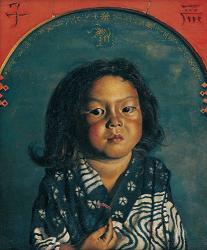 岸田劉生《麗子肖像 ( 麗子五歳之 像 )》、1918 年、油彩・キャンバス、 東京国立近代美術館