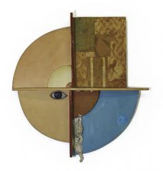 恩地孝四郎 ONCHI Koshiro 「おかあさまへ」 1930年  レリーフ、彩色、木 39×35×3.8cm