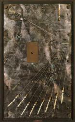 池田龍雄 「八つの弦」 1995-96  ミクストメディア 84.6x52.6x5.9cm