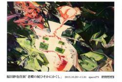 福田紗也佳展 「老蝶の屍ひそかにかくし」