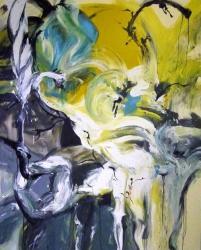 三好彩「裸足の頭蓋」 2013   oil on canvas   160×130.3cm Courtesy of imura art gallery