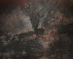 案内状作品 「埋む風景 No.6」 72.8cm × 91.0cm