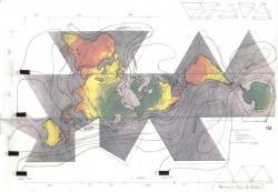 磯辺行久「新作《海流資源・ダイマキシオンマップ》のためのドローイング」2013年 ©1938, 1967 & 1992. All rights reserved, www.bfi.org.