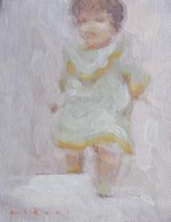 伊藤みどり 「硝子のむこう」カンヴァスに油彩