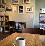 展示とカフェ