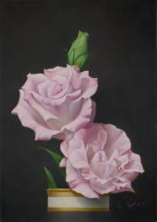「トルコキキョウ」油彩 作品サイズ:サムホール