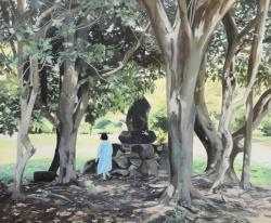 八太栄里/Eri Hatta 《その日》2019, 38.0×45.5cm, キャンバス、アクリル