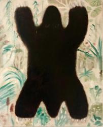 「クマ」72.7x60.6cm