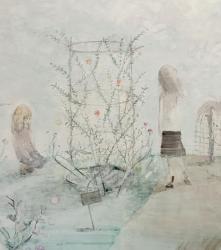阿部泉 「植物園」2020年  S60号 キャンバス、油彩